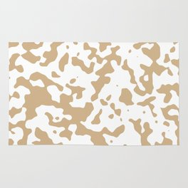 Spots - White and Tan Brown Rug