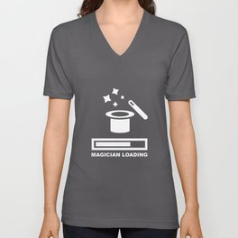 Magician Loading graphic | Wizard Magic Trick Tee Gift Unisex V-Neck