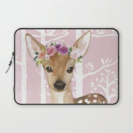 Animals in Forest - The Little Deer Laptop Sleeve
