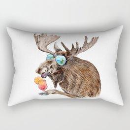 Moose on Vacation Rectangular Pillow