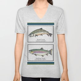 Char and Trout Unisex V-Neck