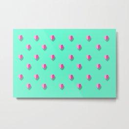 love heart set seamless pattern Metal Print