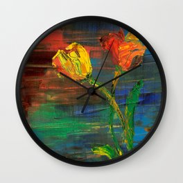 Two Lips at First Light Wall Clock
