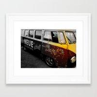 vw bus Framed Art Prints featuring VW Bus  by Coastal Life- Interpretations by Brian G