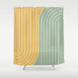 Two Tone Line Curvature XVII  Shower Curtain