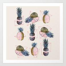 NEW geometric, pineapple!! Art Print