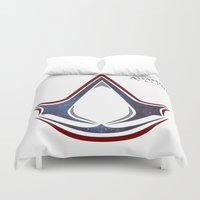 assassins creed Duvet Covers featuring Assassins Creed - Space by Fatih
