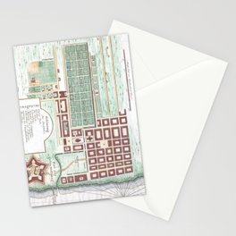 Vintage Map of Cape Town South Africa (1750) Stationery Cards
