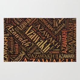 Azawakh dog Word Art Rug