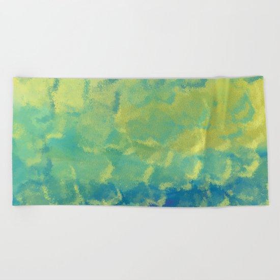 Watercolor Splash #1 #art #society6 Beach Towel