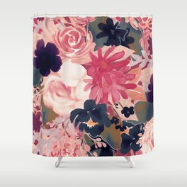 Mulberry Blooms Shower Curtain
