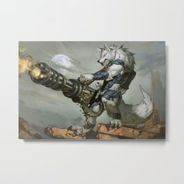 Thunder Werewolf Metal Print