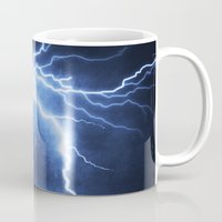 lightning Mugs featuring Lightning by Svetlana Sewell