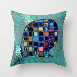 living in a box (global)4.Version Throw Pillow
