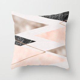 Splices and triangles Throw Pillow