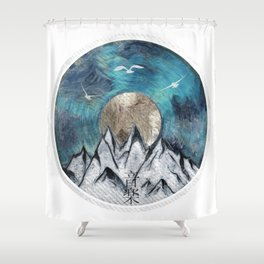 The Sound Of Nature - Blue Shower Curtain