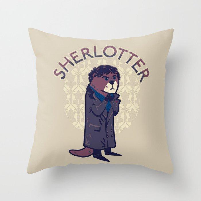 Sherlotter Throw Pillow