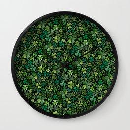 Luck in a Field of Irish Clover Wall Clock