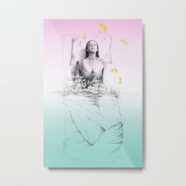 Waking up (Just a thought when I wasn't quite awake) Metal Print