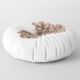 Watercolor pinecones Floor Pillow