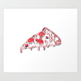 Pizza dream Art Print