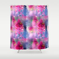 Spring floral paint 1 Shower Curtain