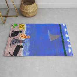 Cats on the Beach Rug