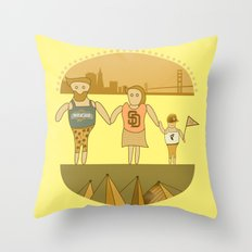 west coast tourists in a burger Throw Pillow
