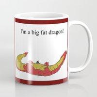 smaug Mugs featuring Whiny Smaug by Rshido