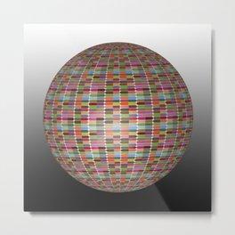 Colorful 3D Ball Metal Print