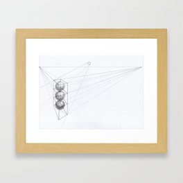 Abstract balls Framed Art Print