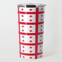 flag of georgia-Georgia,Sakartvelo, Causasus,georgeian,საქართველო ,Tbilisi,causasus,Georgian,ქართული Travel Mug