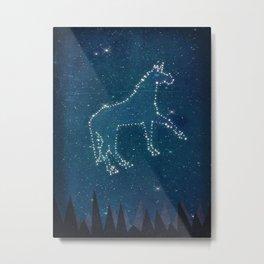 Constellation Unicorn Metal Print