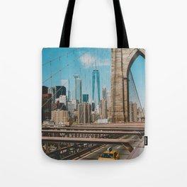The Bridge in New York City (Color) Tote Bag