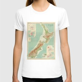 Vintage Map of New Zealand (1922) T-shirt