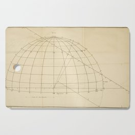 Jérôme Lalande's Astronomie (1771) - Geometric Calculations regarding Planetary Bodies 6 Cutting Board
