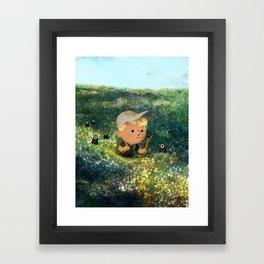 Flowery Fields Framed Art Print