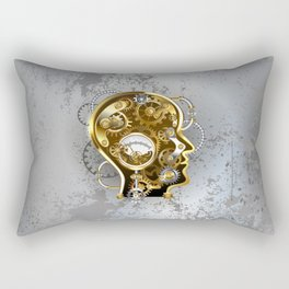 Steampunk Head with Manometer Rectangular Pillow
