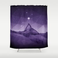 constellation Shower Curtains featuring Constellation by RemiJC Designs