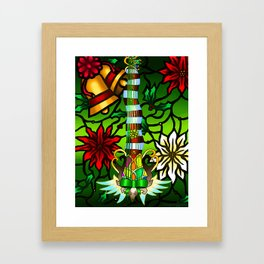 Fusion Keyblade Guitar #175 - Decisive Pumpkin & Nightmare's End Reality Shift Framed Art Print
