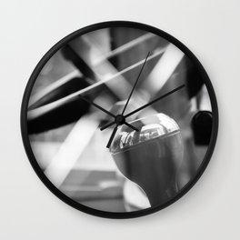 Shatterproof Dreams (JCB Cab Bokeh) Wall Clock