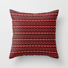 Dividers 02 in Red over Black Throw Pillow