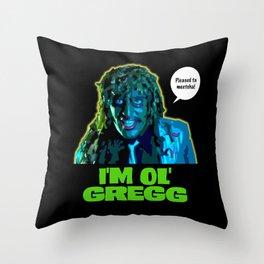 Old Gregg Throw Pillow