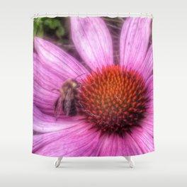 Flower Bee Shower Curtain