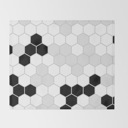 Honeycomb Pattern | Black and White Design | Minimalism Throw Blanket