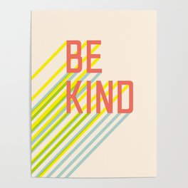 Be Kind typography Poster