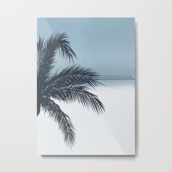 Palm and Ocean Metal Print