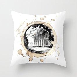 Coffee Stained Plantation-Louisiana Series Throw Pillow