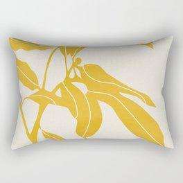 Golden Yellow Leaves #art print#society6 Rectangular Pillow