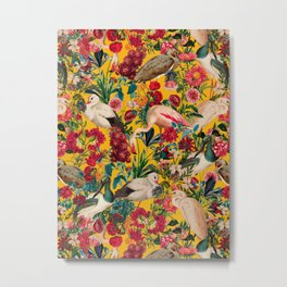 FLORAL AND BIRDS XVIII Metal Print